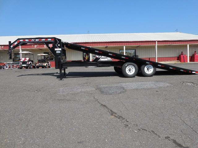 2015 PJ Trailers GN 22' Deckover Tilt Equipment Trailers