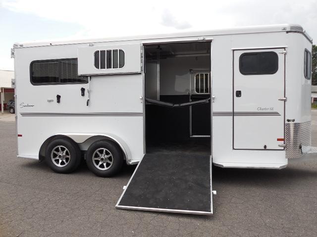 Clearance 2015 Sundowner Trailers BP 2H w/Rear/side Ramps Horse Trailer