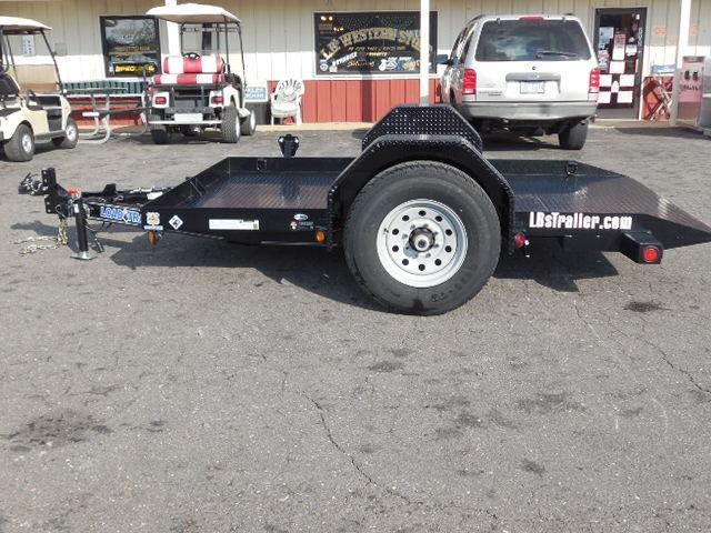 2017 Load Trail BP 77 x 10 SA Scissor Hauler Equipment Trailer