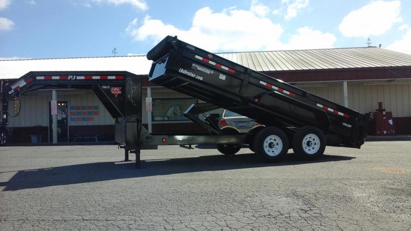 2018 PJ Trailers GN 16 x 83 Low Pro XL Dump Trailer
