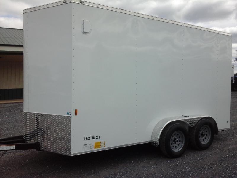 2018 Continental Cargo 7x14 Tandem Axle Enclosed Cargo Trailer