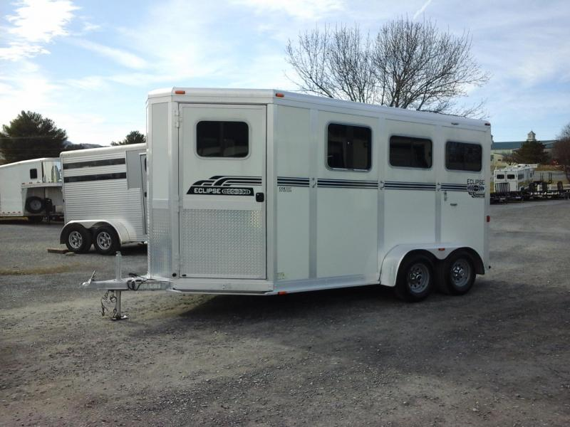 2010 Eclipse 2H BP STL Side Ramp Horse Trailer