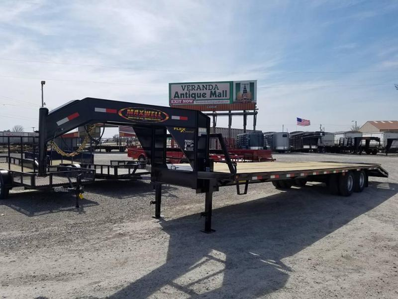 New 2018 Maxwell 102 x 32 Gooseneck Tandem Dually Equipment Flatbed Trailer