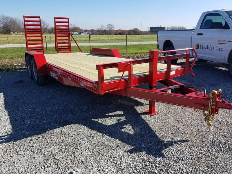 New 2018 Maxwell 83.5 x 20 Deluxe Skidsteer/ Equipment/Flatbed Trailer