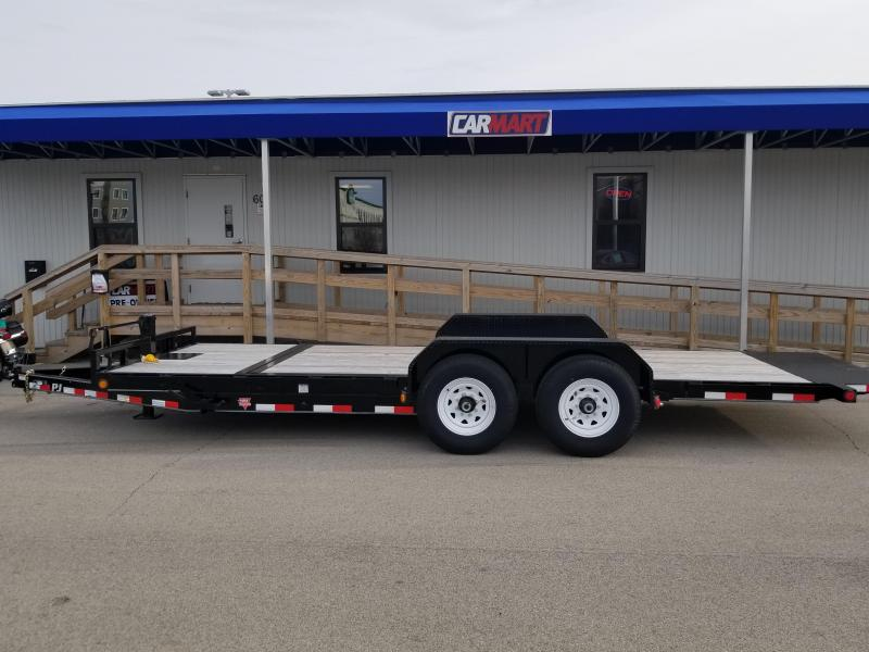 2016 PJ Trailers 20' Channel Equipment Tilt Trailer