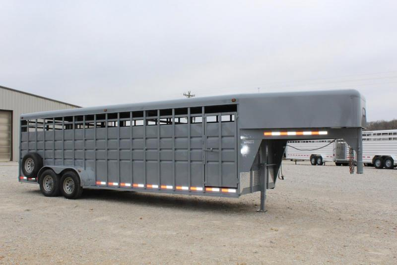 2004 Travalong 6'8 x 24 Livestock Trailer