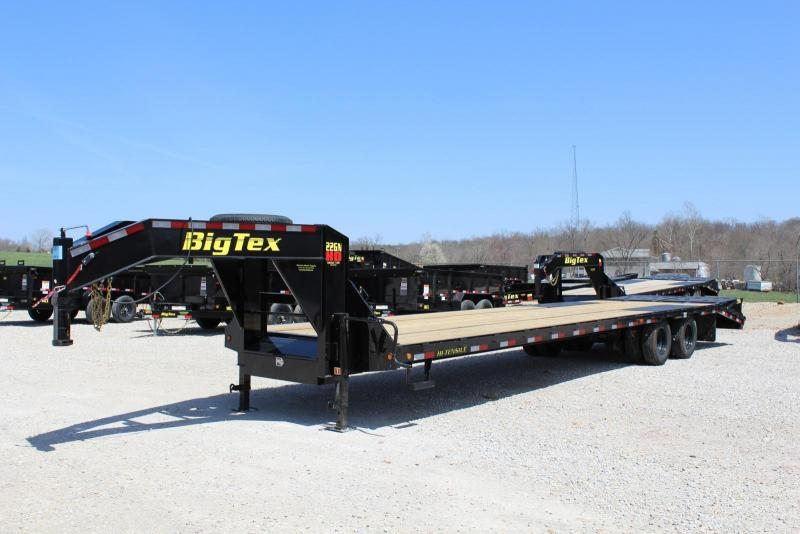 2018 Big Tex Trailers 22GN-30BK5MR Flatbed Trailer