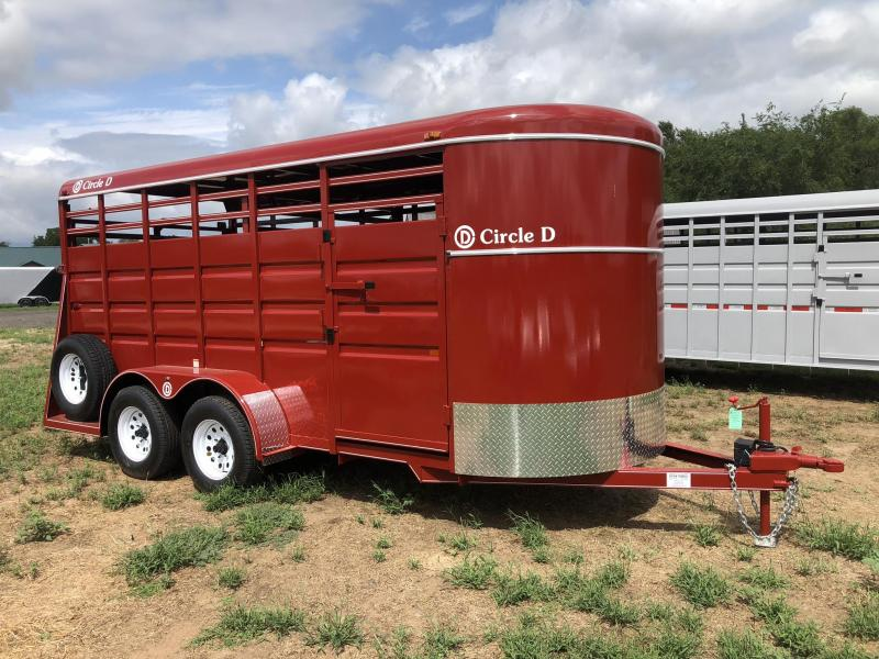 2019 Circle D 6'X16' Bumper Hitch Livestock Trailer
