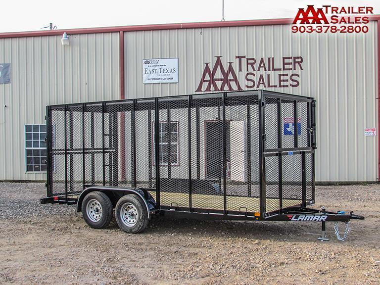 "2018 LAMAR Trash Trailer 77""x16' GVWR 7000"