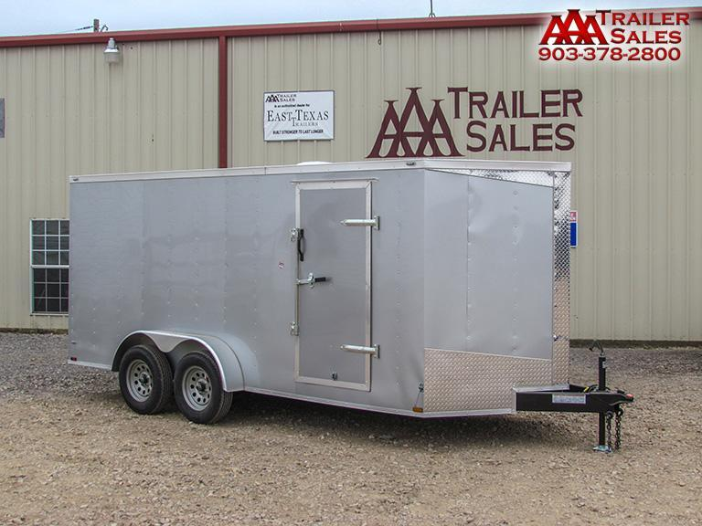 2018 Lark V Nose 7'x16' Enclosed Trailer