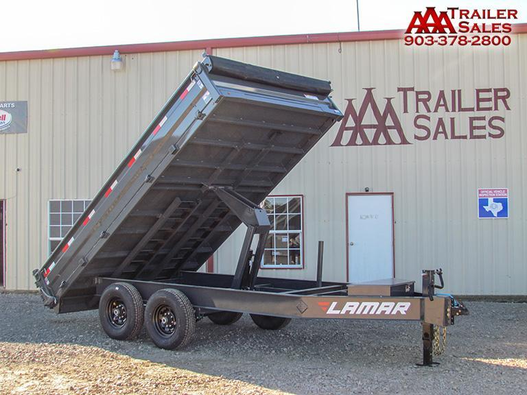 "2018 LAMAR Deck Over Dump Trailer 96""x14' GVWR 14000"
