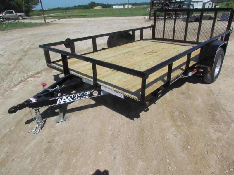"2018 Single Axle Utility Trailer 83""x12' GVWR 2990"