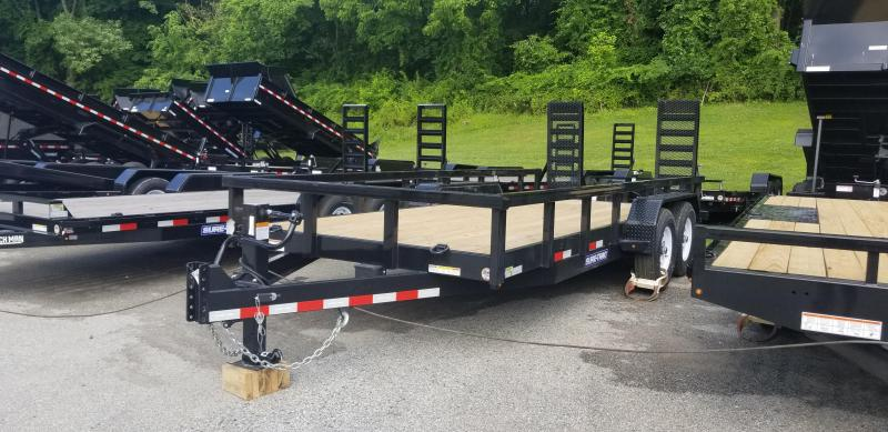 Sure-Trac 7 x 18 Heavy Duty Equipment Trailer 14k