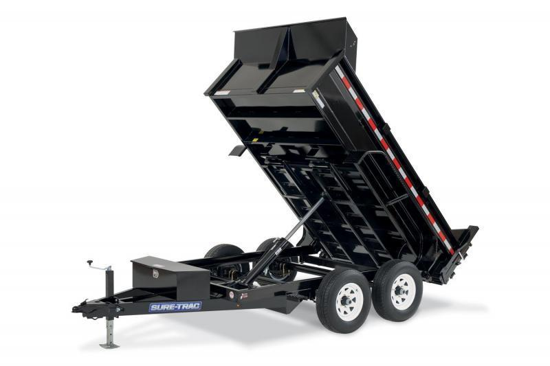 6 x 10 Sure-Trac SD Low-Profile Dump Trailer 10k