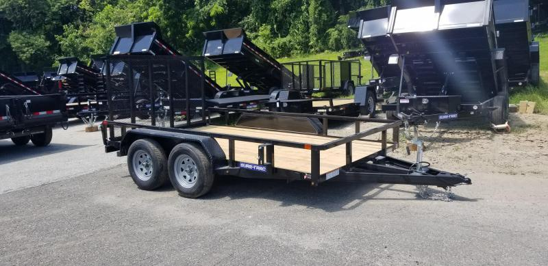 7 x 12 Sure-Trac Tube Top Utility  7K Tandem