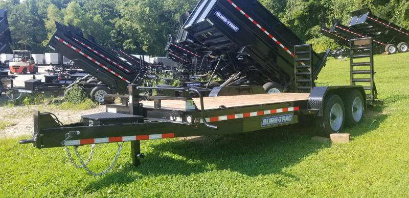 7 x 18 Sure-Trac  Equipment Trailer  16k