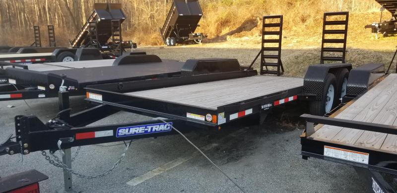 80 x 16 Sure-Trac Skid Steer Equipment Trailer 14k