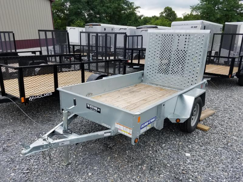 Used 2017 Sure-Trac 5x8 Galvanized High Side Utility Trailer 3k