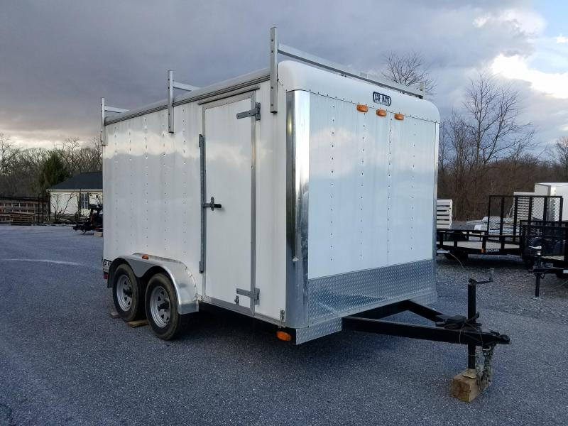 Used 7 x 12 Car Mate Contractor Cargo Trailer 7K