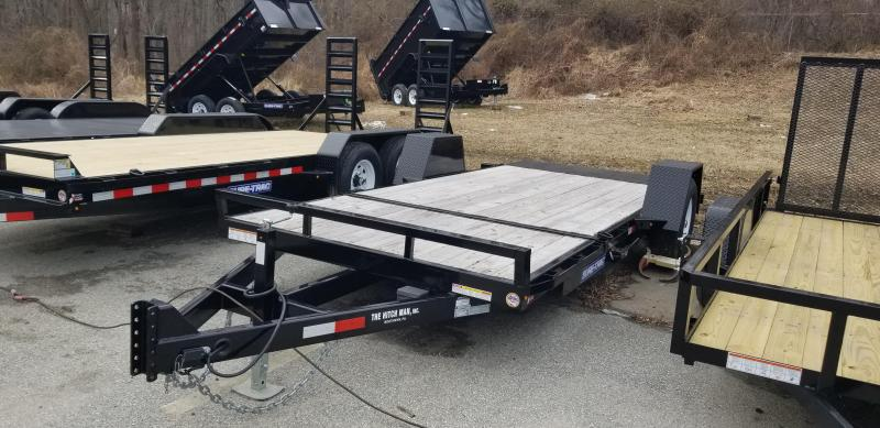 "78"" x 12 + 4 Sure-Trac Single Axle Tilt Bed Equipment Trailer 7.8k"