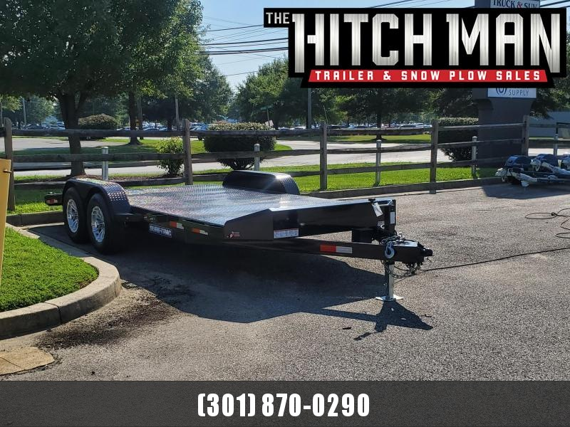 7 x 18 Sure Trac Steel Deck Car Hauler 10k