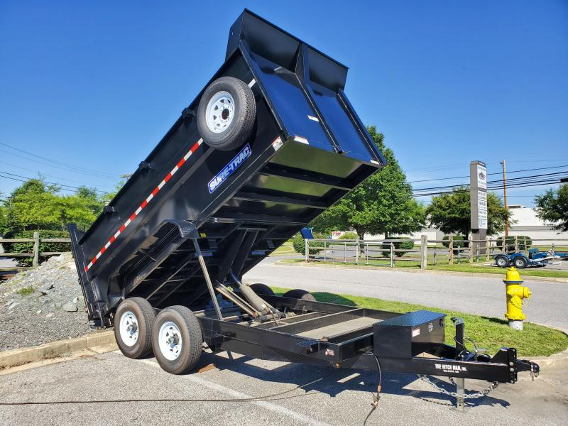 Used 7 x 14 Sure-Trac High Side Dump Trailer 14k Scissor Hoist