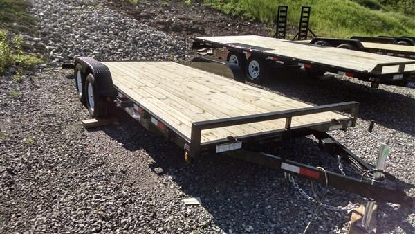 7 x 18 Sure Trac 7k Wood Deck Car Hauler