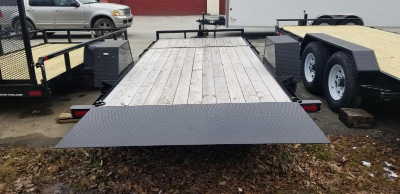 Sure-Trac 7 x 18 +4' Stationary Deck Equipment Trailer 14k