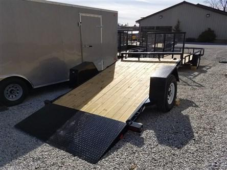 6.5 x 12 Sure-Trac Single Axle Tilt Bed Equipment Trailer 7k