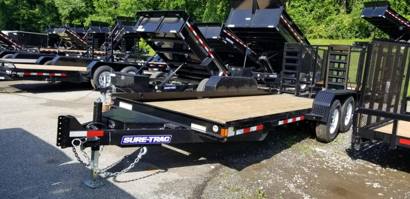 7 x 18 Sure-Trac Skid Steer Equipment Trailer 14K