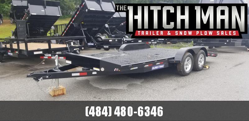 Sure-Trac 7 x 18 Steel Deck Car Hauler  7k