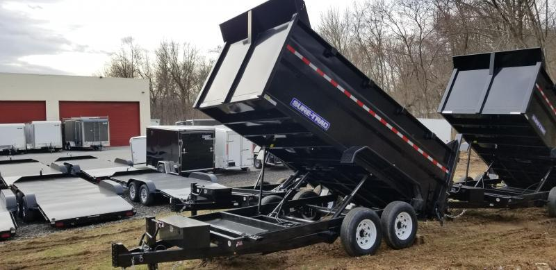 82in x 14 Sure-Trac LProfile **4' High Sides Dual Ram Dump 14k