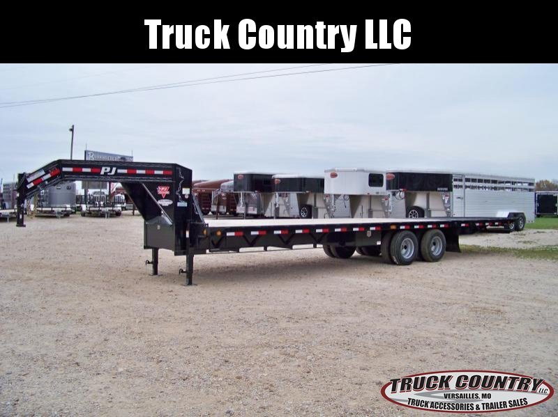 2018 PJ Trailers FY 32ft. gooseneck hydraulic dovetail Trailer