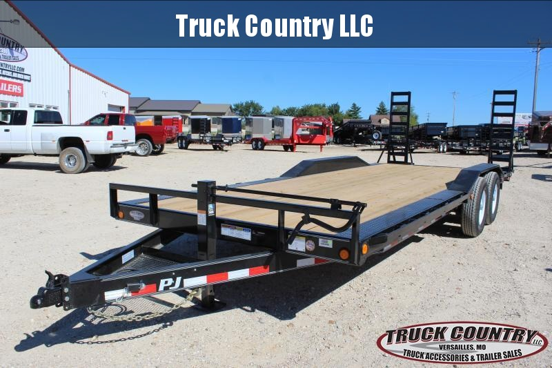 2019 PJ Trailers B6 22' BP superwide drive over fenders Equipment Trailer