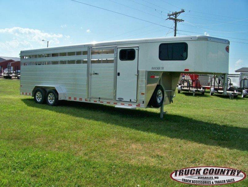 2017 Sundowner aluminum 6.9 x24 Rancher TR Livestock Trailer