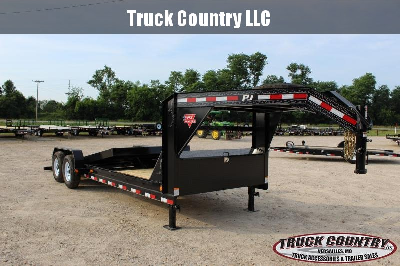 2019 PJ Trailers T6 22 gooseneck tilt Equipment Trailer