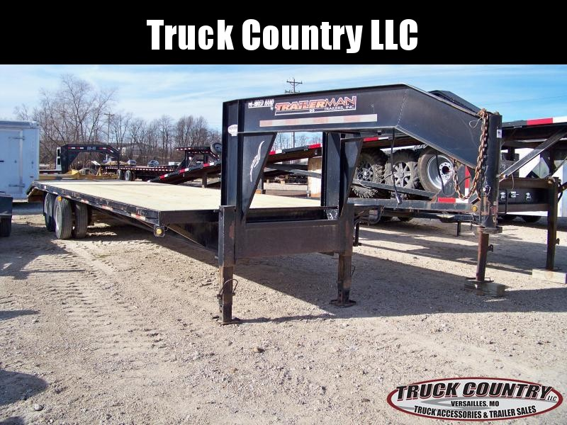 2008 Trailerman Trailers 32' gooseneck Flatbed Trailer