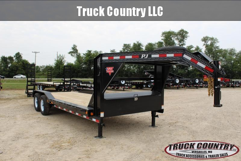 2019 PJ Trailers B6 22' GN superwide Equipment Trailer