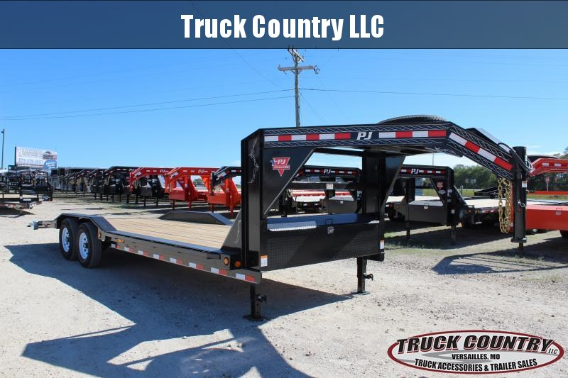 2019 PJ Trailers B6 24' gooseneck superwide w/ drive over fenders Equipment Trailer