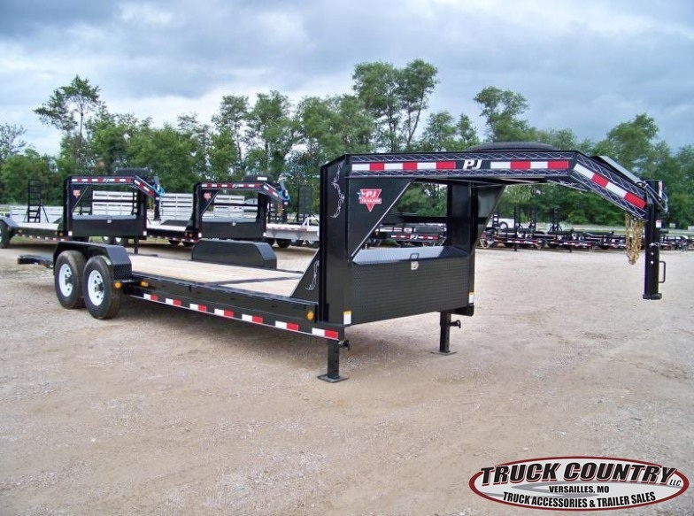 2018 PJ Trailers TJ 22' tilt gooseneck Equipment Trailer