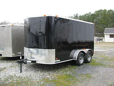 7x14 Tandem Axle Ramp and Side Door
