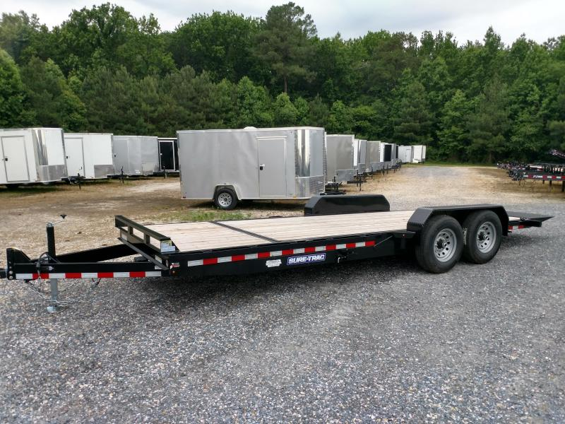 2019 Sure-Trac 14k 7x22 Partial Tilt Equipment Trailer