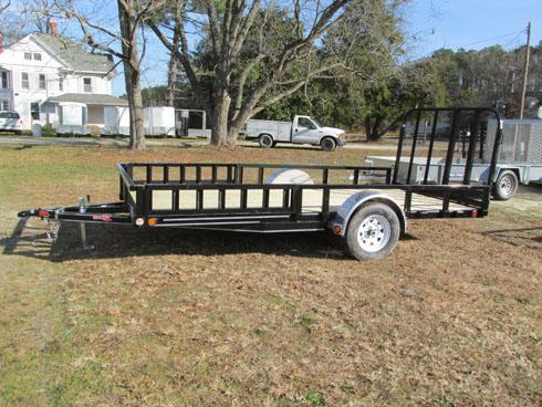 PJ Trailers Single Axle with Side Ramps and Gate