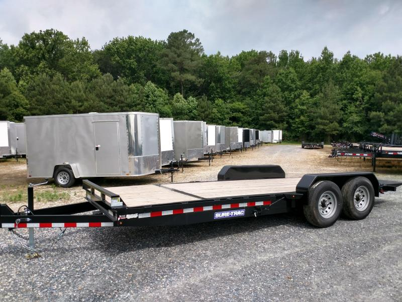 2019 Sure-Trac 14k 7x20 Partial Tilt Equipment Trailer