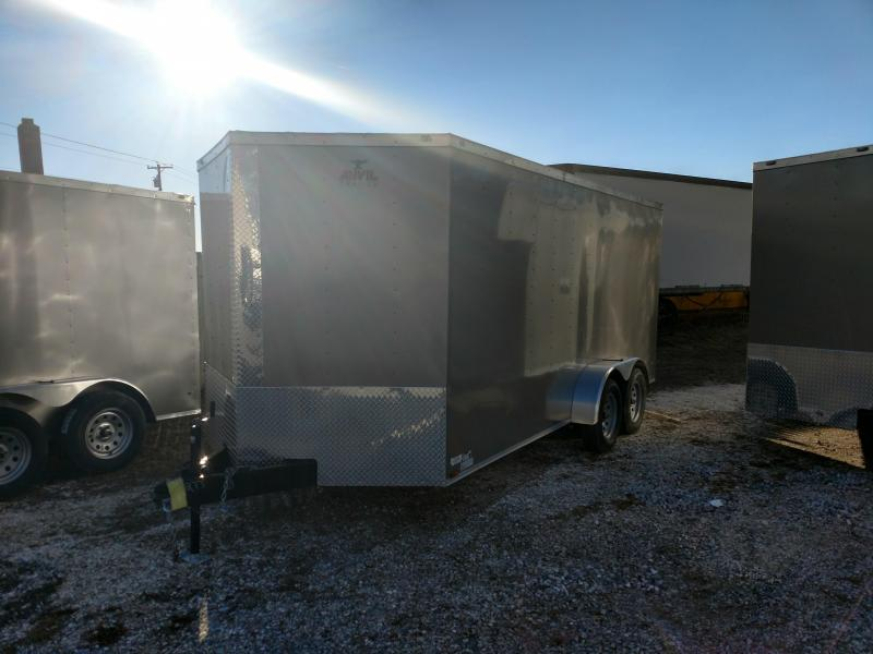 2017 Anvil 7 x 16 Pewter Enclosed Trailer