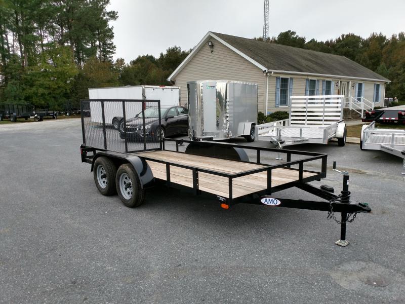 2018 American Manufacturing Operations (AMO) AL14TS - 76 X 14 Landscape w/ Gate Utility Trailer