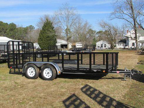 PJ Trailers Tandem Axle High Sides with Gate