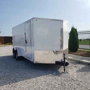 Look 7x16 Tandem Axle Enclosed Cargo Trailer w/ Rear Ramp and 78