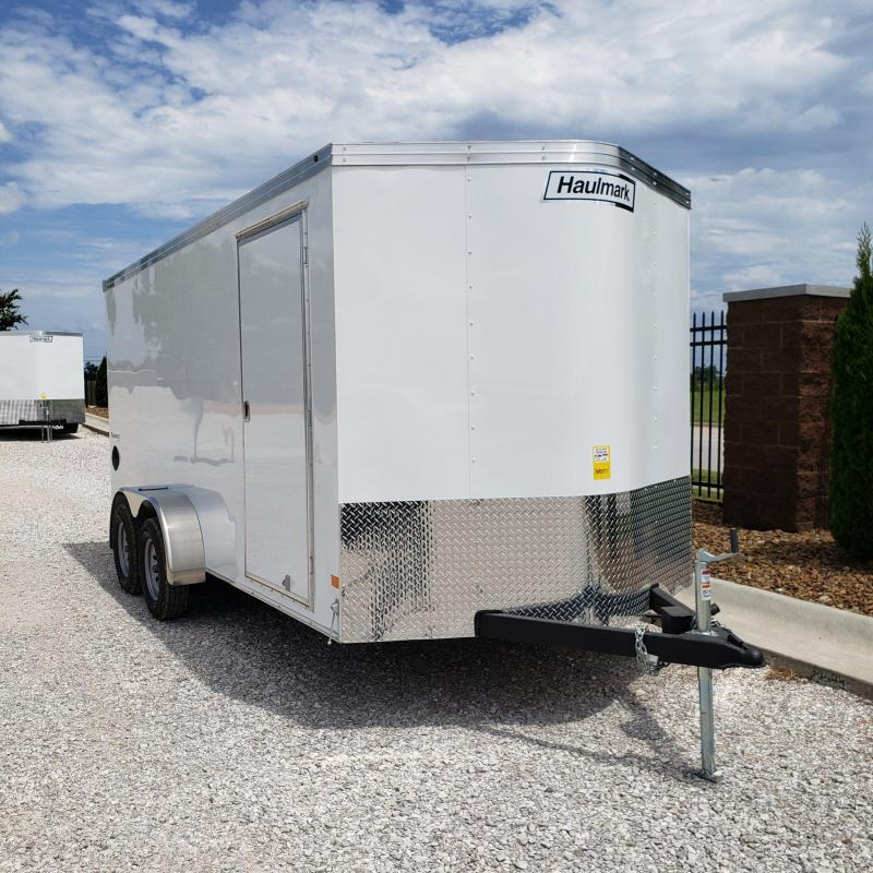 Haulmark 7x16 Tandem Axle Enclosed Cargo Trailer w/ Rear Ramp and 78