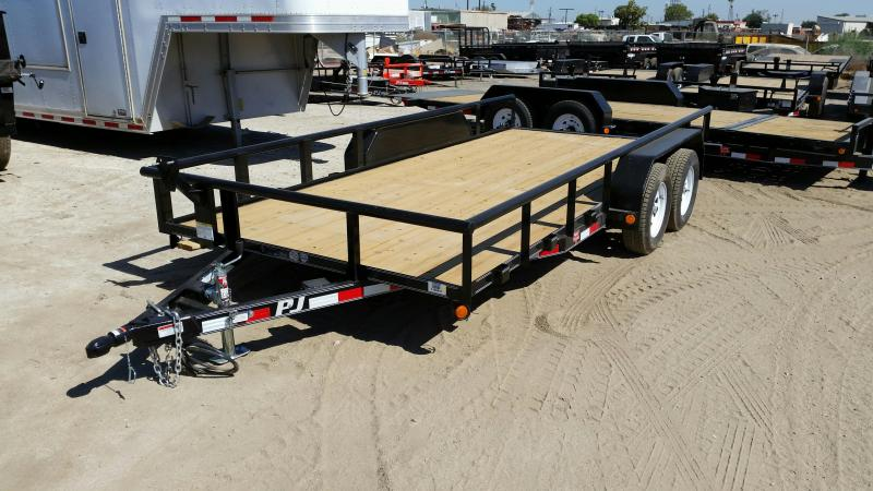 2017 PJ Trailers Angle Pipetop Trailer (P6) Equipment Trailer